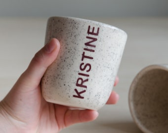 Mug - name - personalized - handmade - ceramics - gift personalizing
