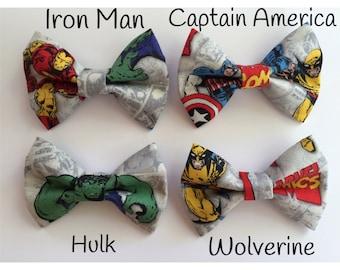 Little Boy Bow Tie - Toddler Bow Tie - Boys Bow Tie - Marvel Comics