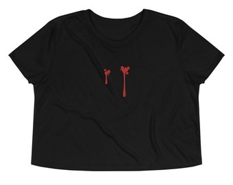 Messy Vampire embroidered crop top
