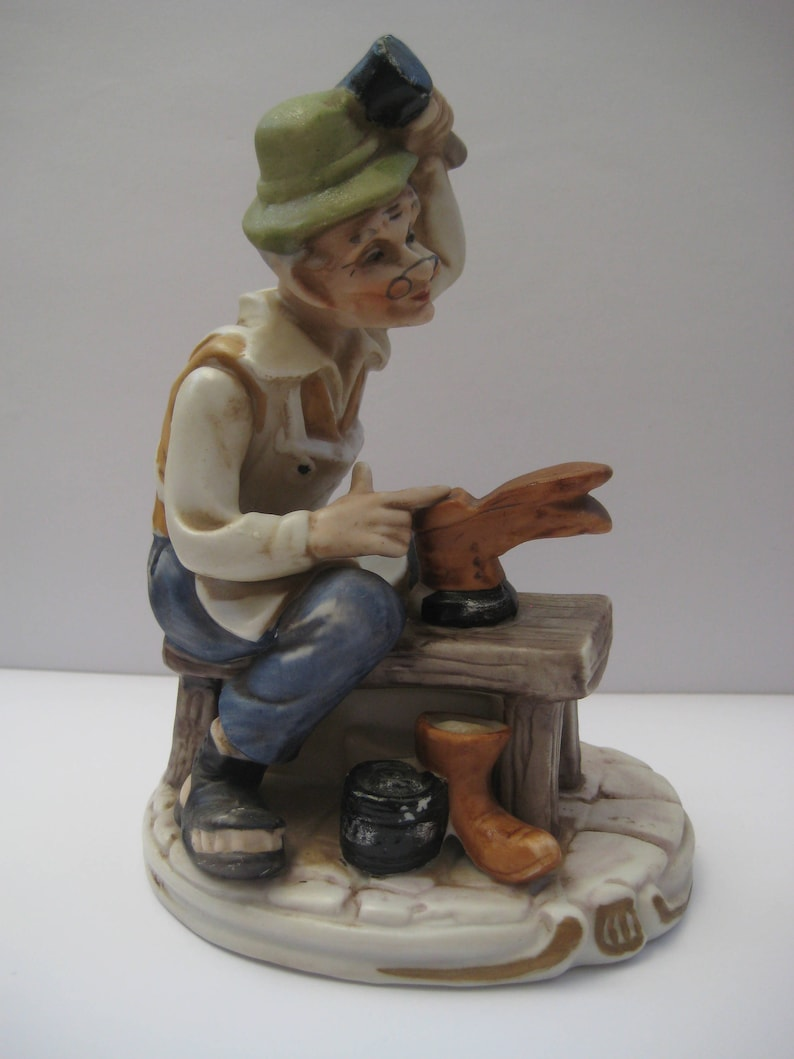 0f5b09ed95f5a Vintage Collectible Cobbler Shoemaker Figurine, Workshop Decor, Hand  Painted, Old Cobbler,Father's Day, Shoemaker, Vintage Artmark, Gifts.