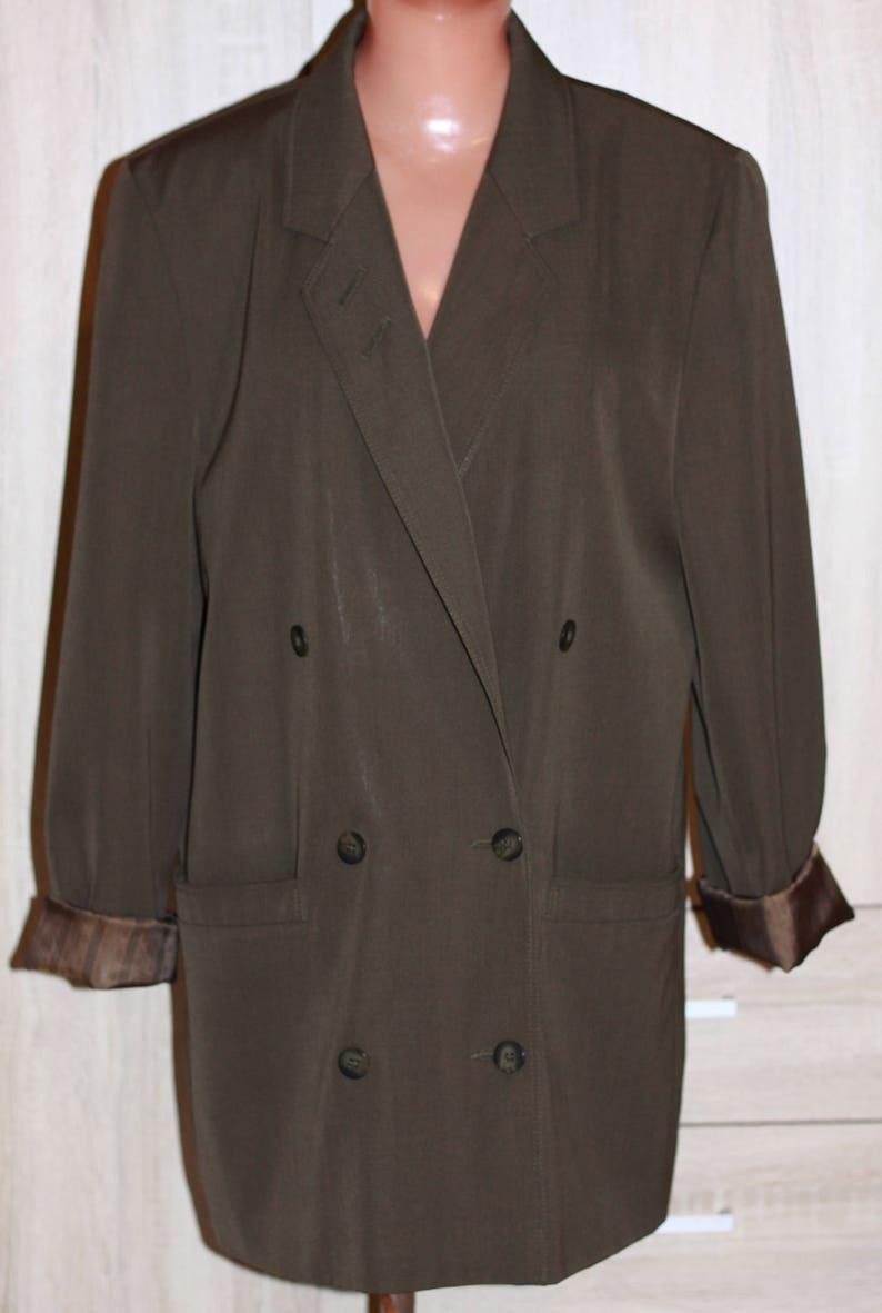 b26744564b692 Vintage Women Jacket Double Breasted Blazer Colette Wolfgang