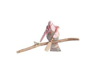 Bird Mobile, Cot Mobile: 'Cinderella',  handmade from Liberty Print fabric