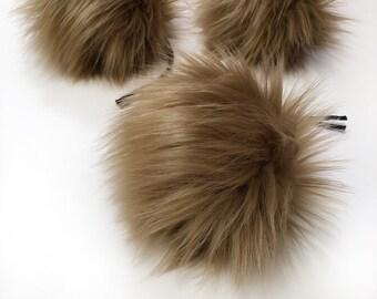 ThreadHead knits Co - COCO - Faux fur Pom Poms
