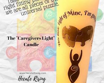 The Caretakers Light Candle - Autism Awareness - Special Needs