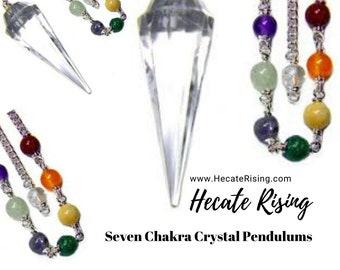 Seven Chakras Crystal Chain Pendulums