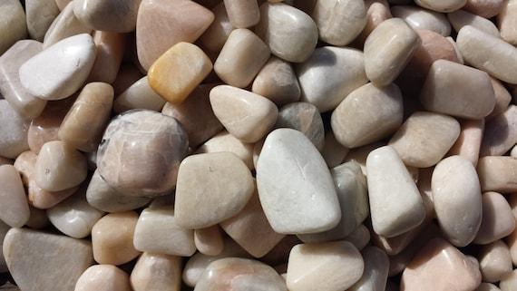 Three (3) Moonstone Tumbled Stones Medium/Large Natural Tumble Stones by Etsy