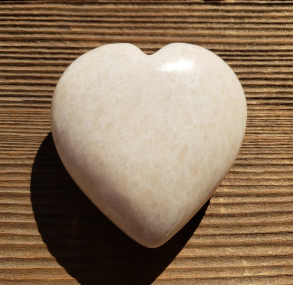 Large Natural Moonstone Stone Gemstone Puffy Heart 60 70mm by Etsy