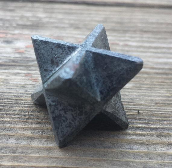 Rare Hematite Merkaba Gemstone
