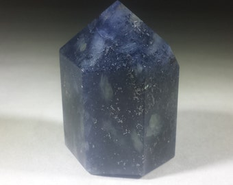 NATURAL  IOLITE Carved Faceted Point Gemstone Crystal Point