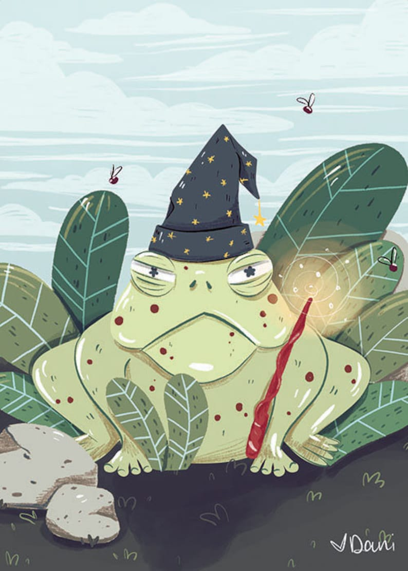 Wizarding Pets Toad | Harry Potter Fanart | Art Print