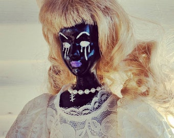 "Ooak art doll entitled ""Darkness becomes me"""