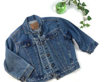 e584144d Vintage kids Levis denim jacket, light wash denim jacket, Vintage Levi's  child size jean jacket, Size 7Y