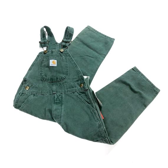 Vtg Carhartt overalls, Deadstock Vintage green can