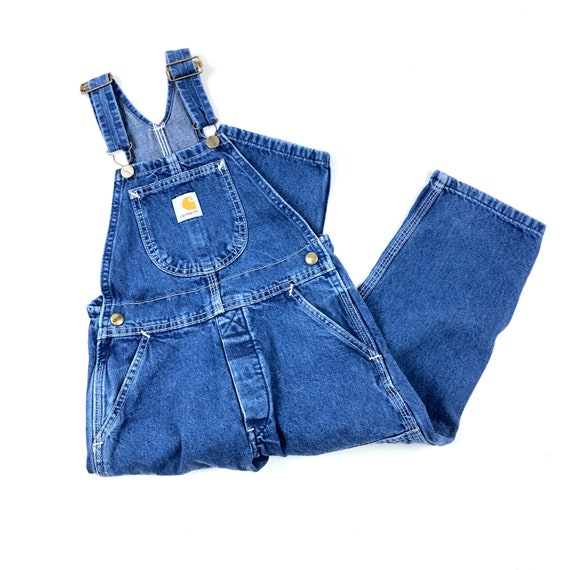 Vtg Carhartt denim overalls, Vintage blue denim co