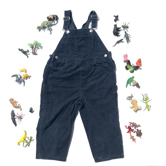 8628cf791fe Vintage kids GAP boys navy 90 blue corduroy overalls Vintage