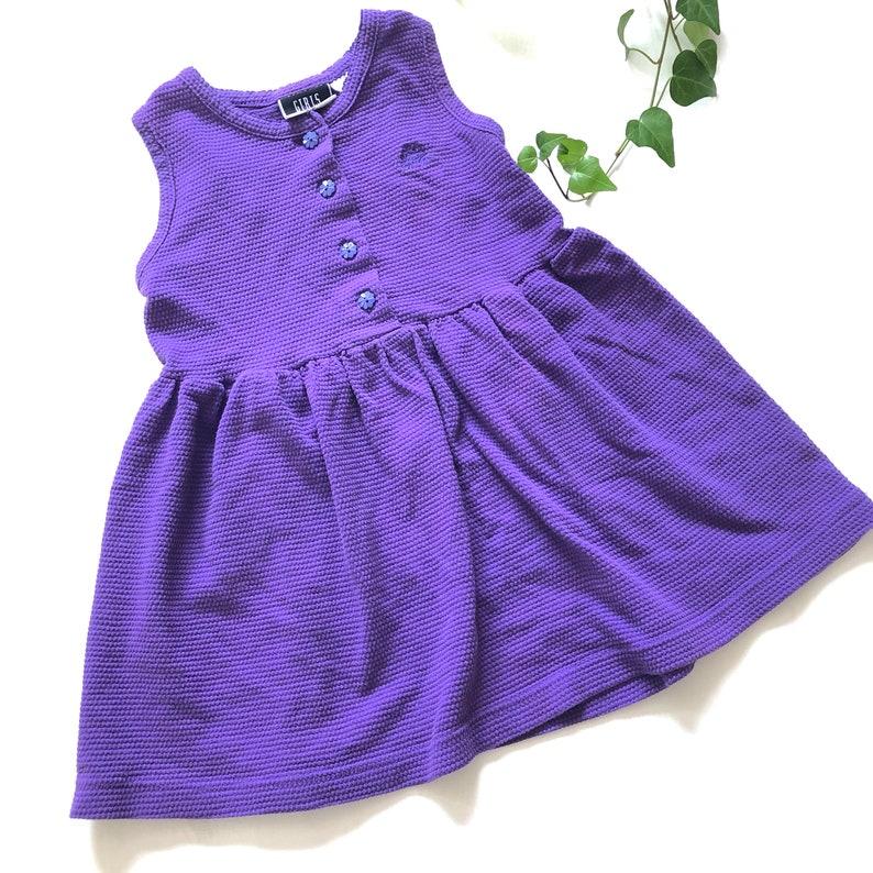 53c07a23bce2 Vintage girls 80s waffle textured jumper dress vintage Girls | Etsy