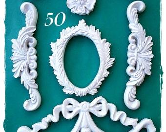 Baroque Ornaments 50....Silicone Mould