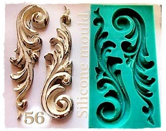 Shabby Chic Ornament 56 ....Silicone mould