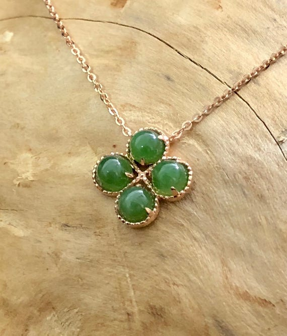 Canadian Nephrite Jade Pendant 18 K Gold Available In Rose Etsy
