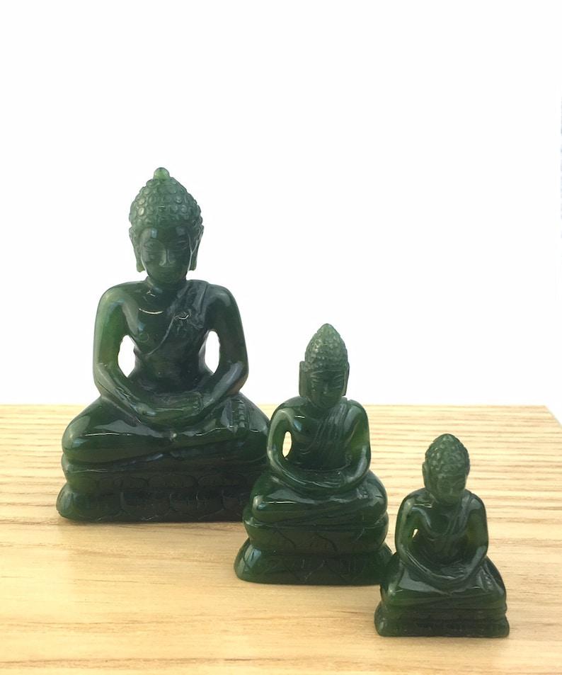 Canadian Jade Thai Buddha Carving 3 Sizes Available Jade carving Jade Buddha