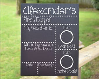 Chalkboard First and Last Day of School Sign - 1st & Last Day Chalkboard Sign, Chalkboard School Sign, Back to School Board, Back to School