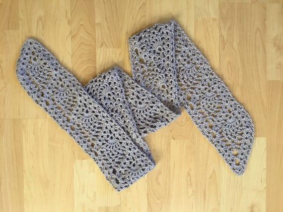 Crochet Pattern Scarf Pattern Tutorial Crochet Scarf Etsy
