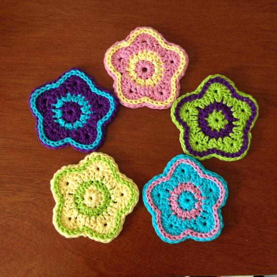 Crochet Flower Pattern Tutorial Five Petal Flower Crochet Etsy