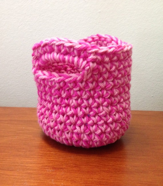 Mini Crochet Basket Pattern Tutorial Small Crochet Basket Etsy