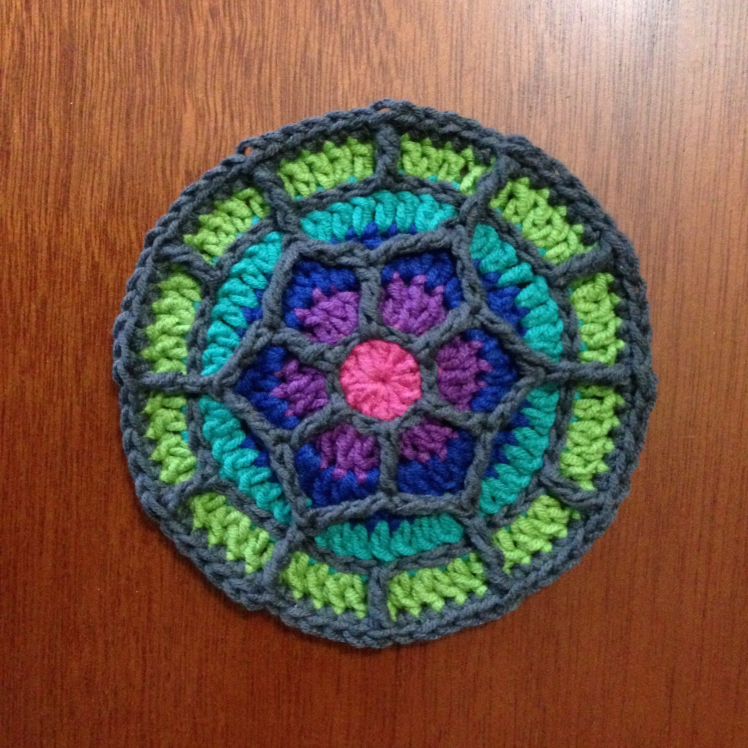 Crochet Coaster Pattern Tutorial Stained Glass Coaster Etsy