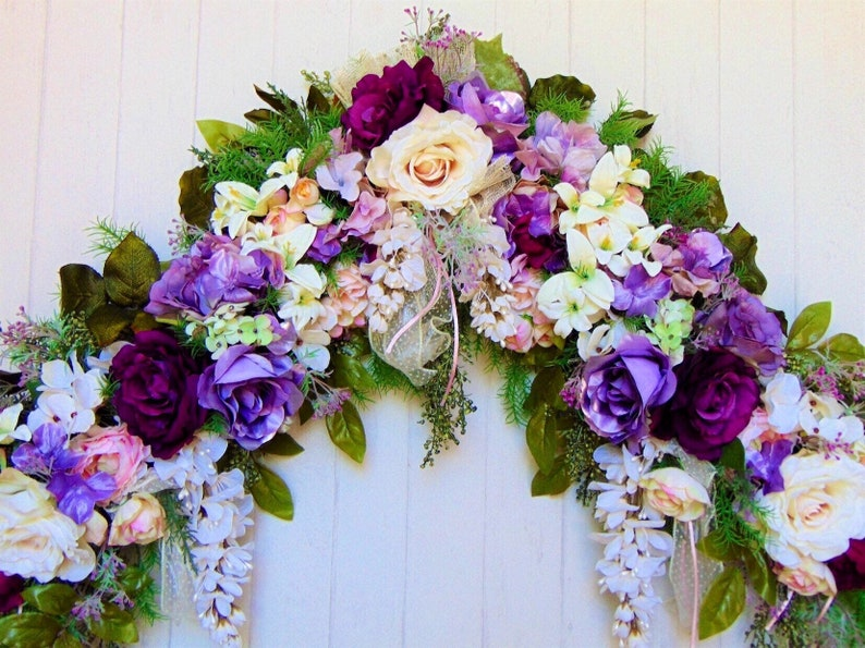 Rose Swag Wedding Arbor Flowers Wedding Gift Arch Flowers image 0