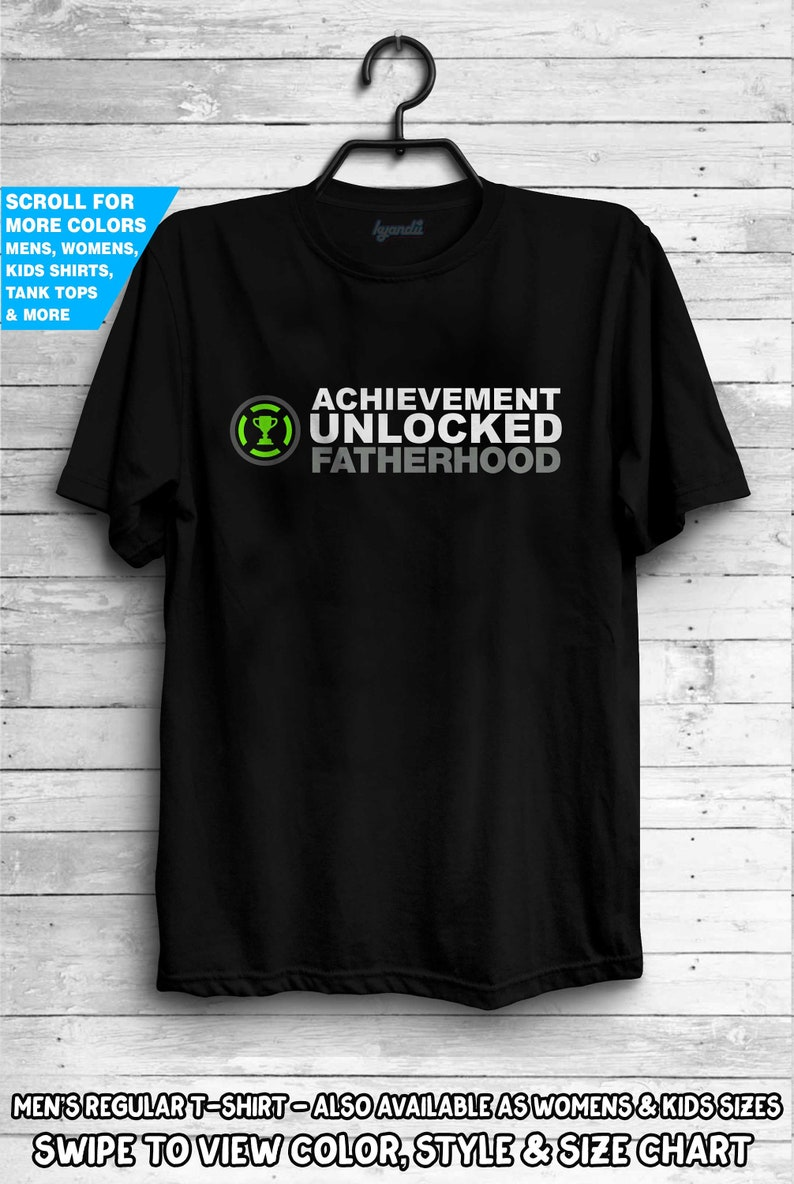4281c910 Achievement Unlocked Fatherhood Shirt New baby Surprise Tee | Etsy