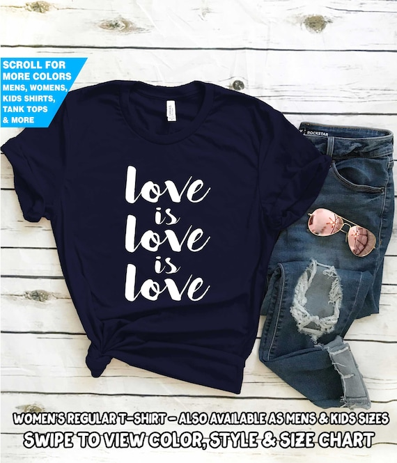 ef836673c Love Is Love Is Love T Shirt Gay Pride LGBT LGBTQIA Wedding | Etsy