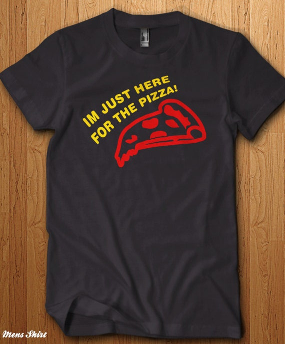 Mad Over Shirts Im Just Here for The Pizza Unisex Premium Tank Top