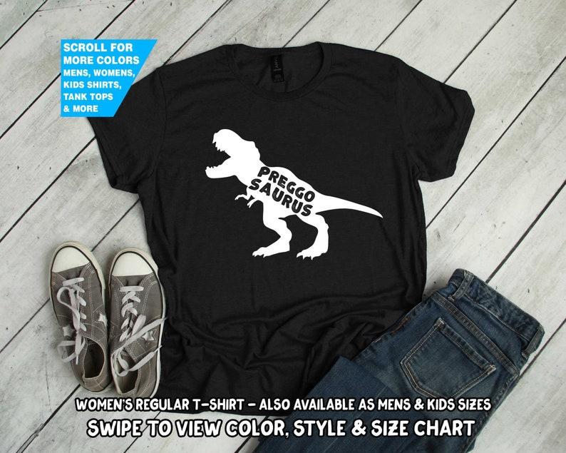bb71e663e0a45 Preggo Saurus Shirt T-Rex Dinosaur Dino pregnancy pregnant | Etsy