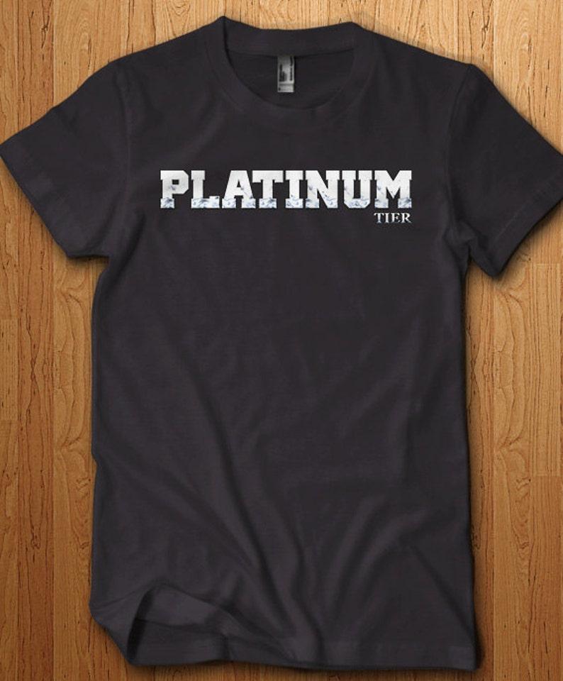 Platinum Tier Shirt Lol Tee League Shirt Dota Wow PC Gamer Geek Gaming  Video Games Legends Gifts For Him Support e-gaming rank geek gift