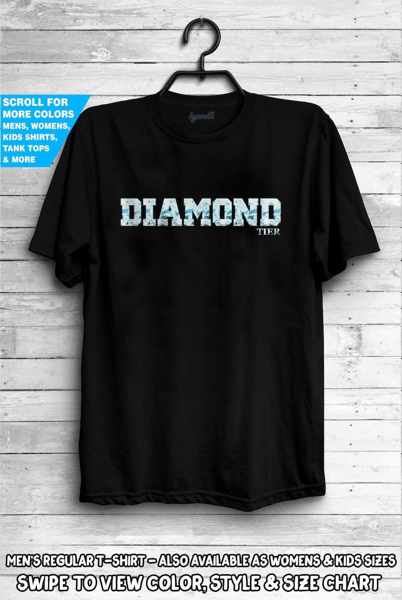 Diamond Tier Shirt Lol Tee League Shirt Legends Wow PC Gamer Geek Gaming  Video Games Gifts For Him Support e-gaming rank geek gift