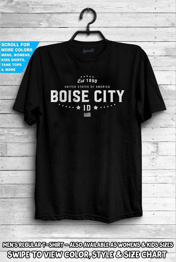 Boise City Shamrock Tri-Blend Long Sleeve T-Shirt
