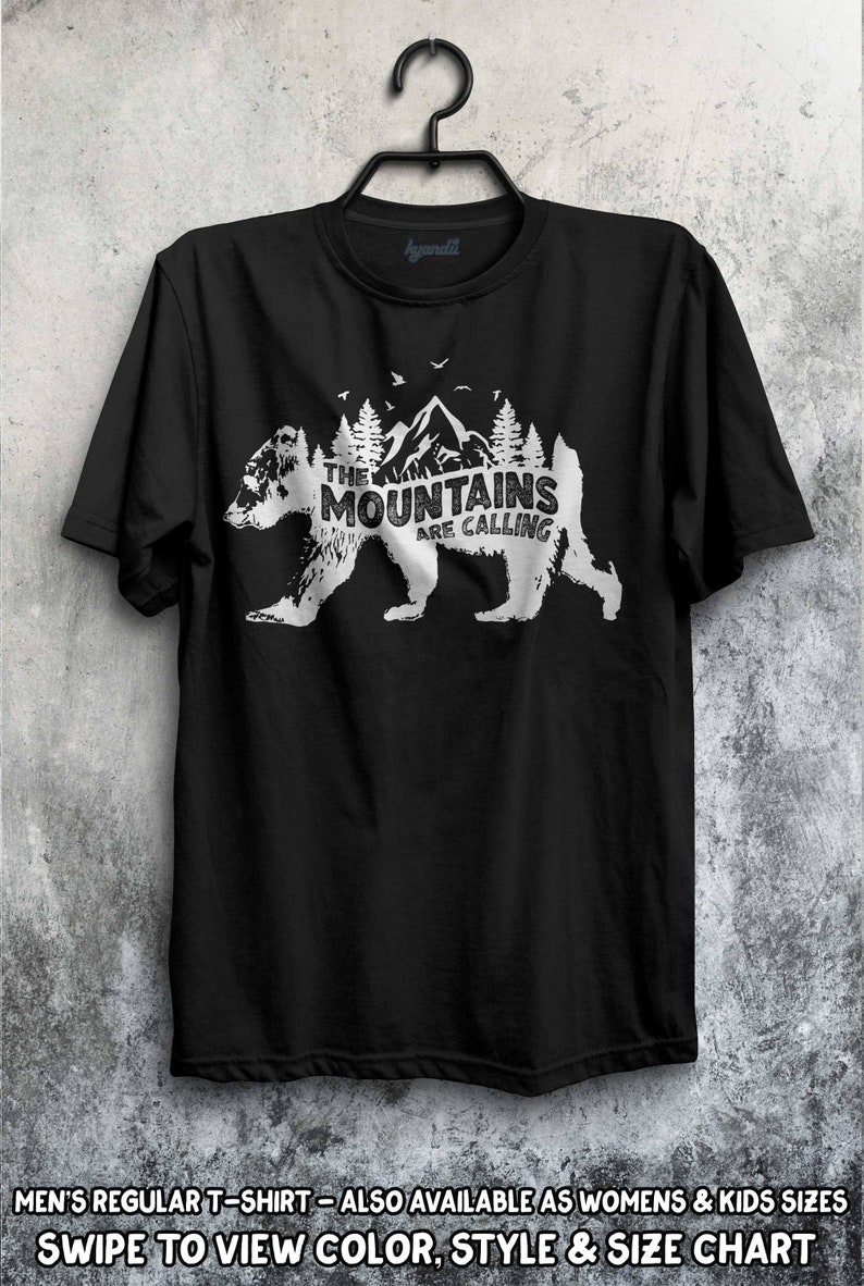 294ec5f5 Bear The Mountains are Calling and I Must Go T-Shirt Family | Etsy