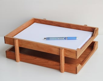 Double Wood A4/Letter Paper Tray