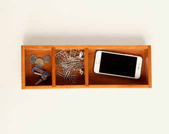 Classic Desktop Utility Multi-purpose Tray - Finger jointed - Glossy
