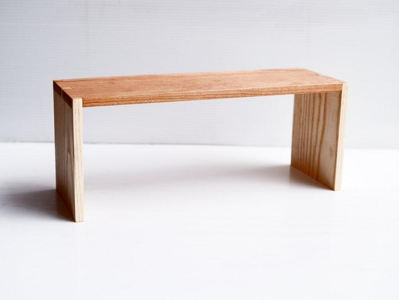 mini wood shelf  dovetailed jointed image 0
