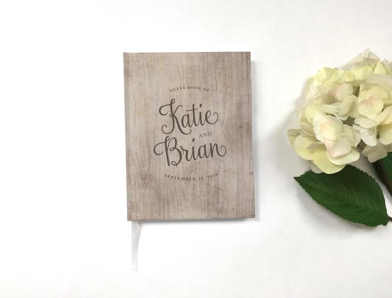 Woodsy Guestbook Personalized Guestbook Wedding Guest Book Rustic Wedding Keepsake Custom Guest Book Wedding Guestbook