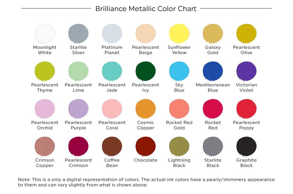 Brilliance Metallic Ink Pad Metallic Stamp Ink Shimmer Ink Etsy