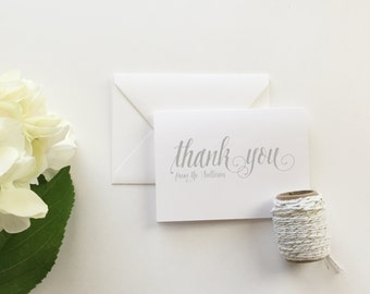 Wedding Thank You Cards (set of 10) - Personalized thank you cards - thank you cards - custom thank you card - modern calligraphy cards