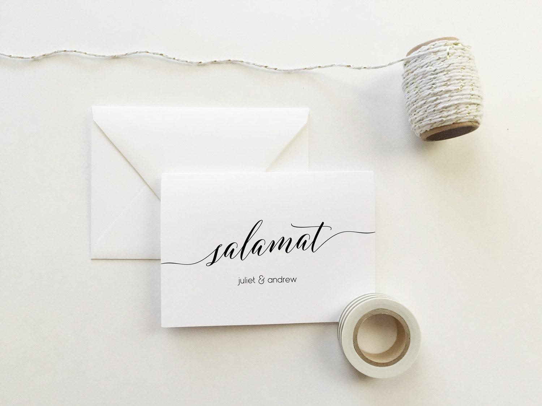 Salamat Wedding Thank You Cards Set Of 10 Personalized Thank You Cards Salamat Thank You Cards Modern Calligraphy Cards