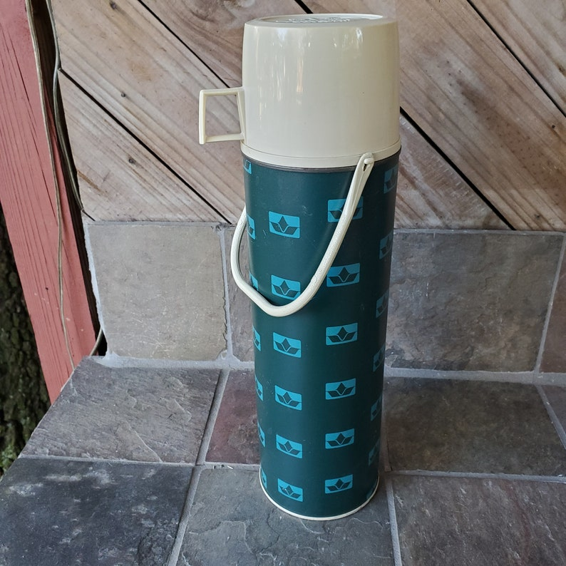 1970/'s Thermos Blue King Seely  Thermos Glass Insulated  Bottle