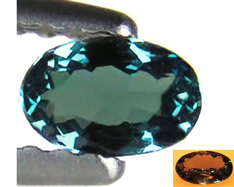 0.25 Ct Natural Alexandrite Gemstone Bluish Green to Purple Color Oval Cut