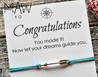 Graduation Gift for Graduate Gift Graduation Card College Graduation High School Graduation Gift Friendship Wish Bracelet Graduate