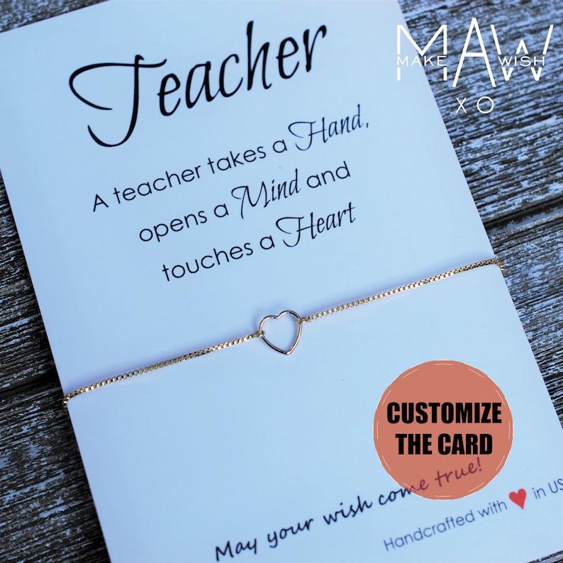 Teacher Gift Appreciation Friendship Bracelet Birthday For Tea