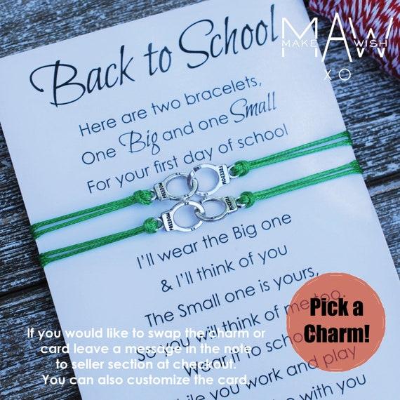 First Day of School Bracelet \u2022 Anxiety Bracelet \u2022 Back to School Bracelet \u2022 Mommy and Me Bracelet \u2022 Mother Daughter Bracelet \u2022 Star Bracelet